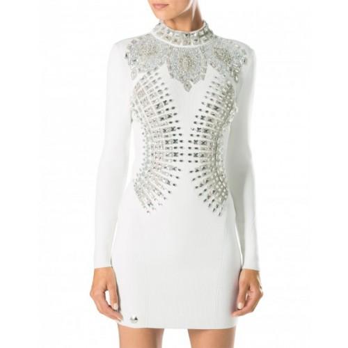 Philipp Plein Dress Dark Princess Fw16 Cw403376 01 White